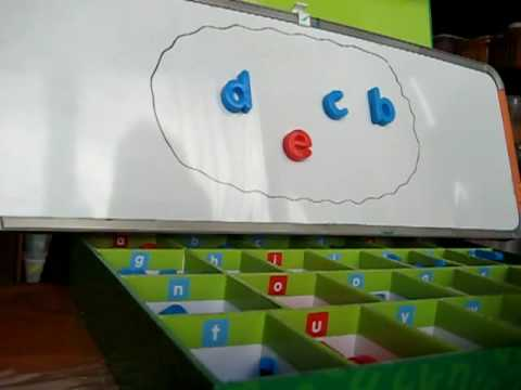 Preschool - Reading. Movable alphabet 2