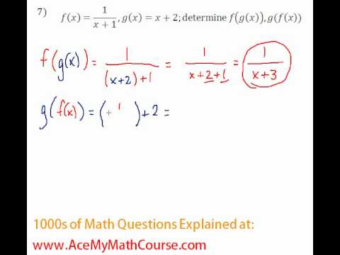 Functions - Function Composition Question #7