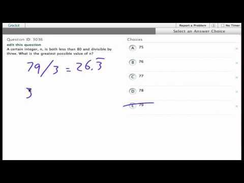 Grockit SAT Math - Multiple Choice: Question 3036