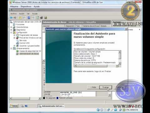 Windows Server 2008 - Iniciar discos