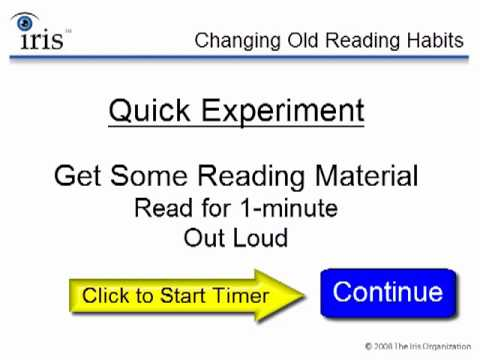 Speed Reading Course - Changing Habits
