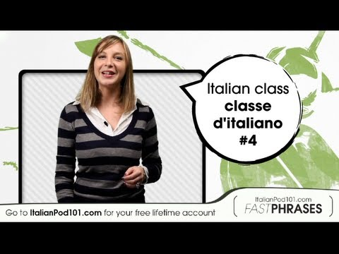Learn Italian Fast Phrases -- Italian Homework