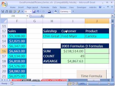 Excel Formula Efficiency 3: Database D Functions Are Fast