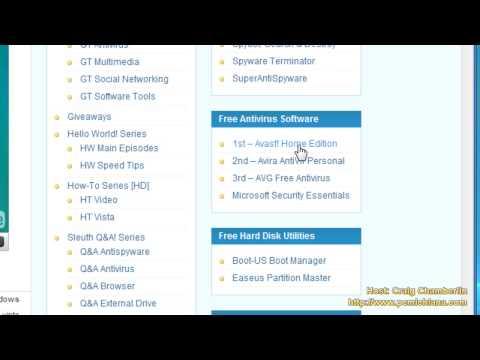 Faster Vista! [HD] Ep. 3: Remove Norton / McAfee Install Avast!, AVG or Avira Free Antivirus
