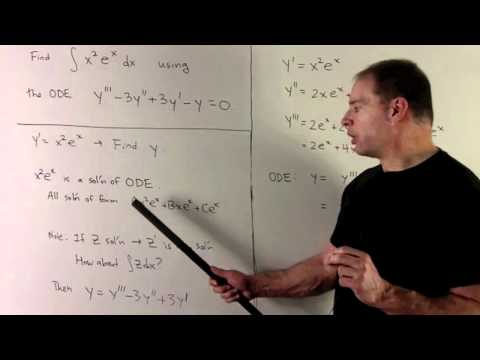 Antiderivative of  x^2 e^x  (ODE Solution)