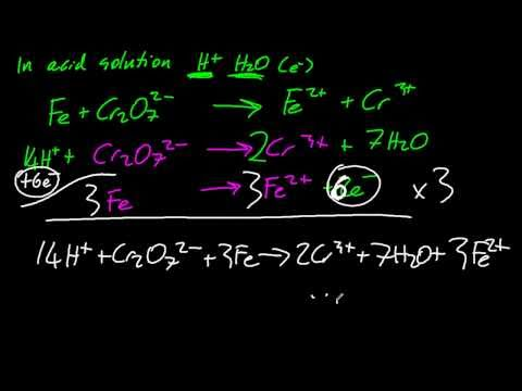 9.2.2 Deduce redox equations using half equations IB Chemistry