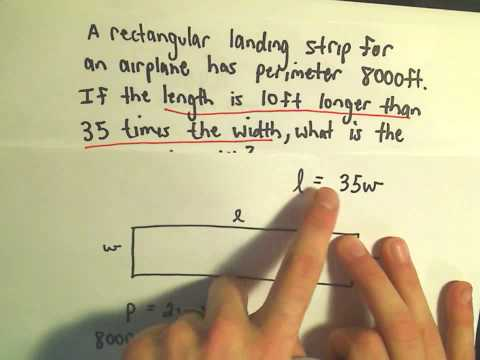 Word Problem Involving the Perimeter of a Rectangle - Ex 2