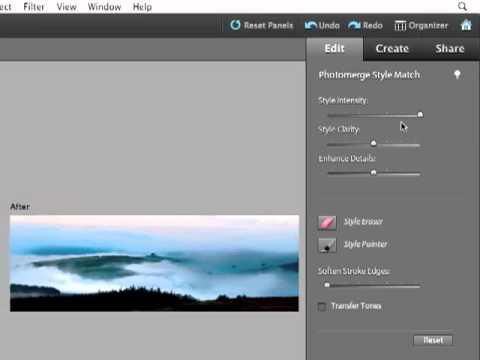 Adobe Photoshop Elements 9 - Photomerge style match