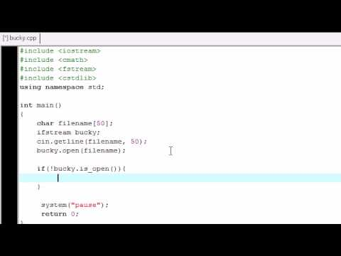 C++ Tutorial - 24 - Reading From a File