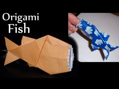 Polly the Finger-Eating Fish Origami by Jeremy Shafer