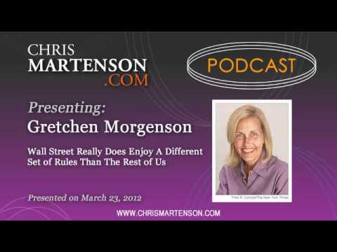 Gretchen Morgenson: Wall Street Really Does Enjoy A Different Set of Rules Than The Rest of Us