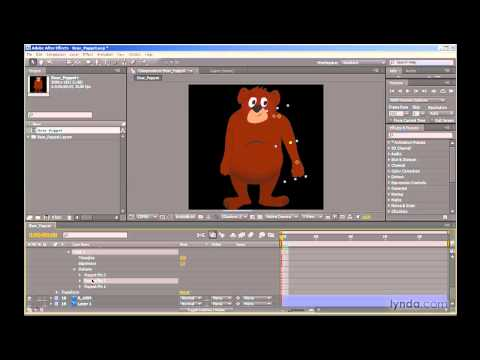 Rigging with the Puppet tool in After Effects | lynda.com
