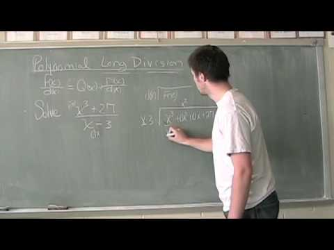Polynomial Long Division Video 2