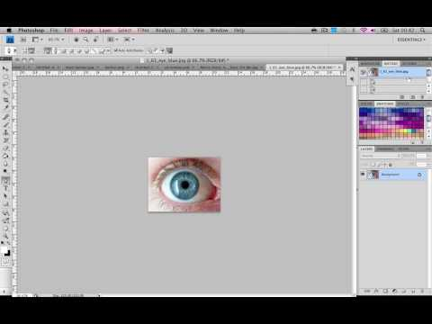 Photoshop Tutorial : How to get cool blue eyes