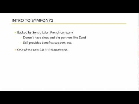 PHP frameworks: An intro to Symfony 2.0 | lynda.com tutorial