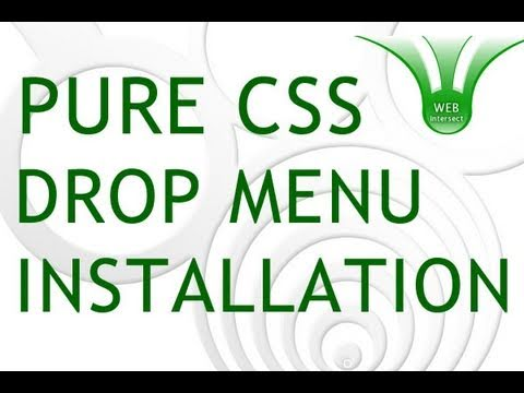 Web Intersect Pure CSS Drop Down Menu Site Installation Tutorial : W3C Validated