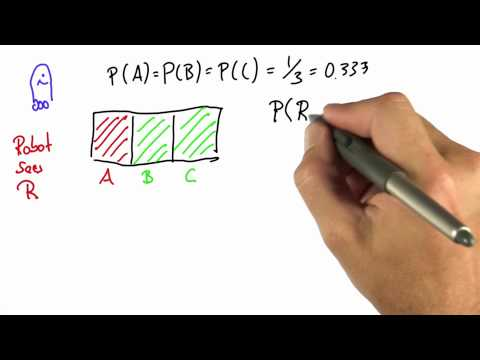 Robot Sensing 4 - Intro to Statistics - Bayes Rule - Udacity