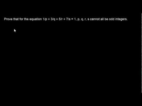 Number Theory Problem 5 - Even and Odd