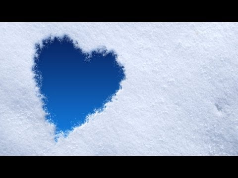 Photoshop: Snow Heart for Valentine's Day