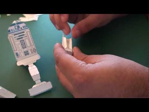 Popular Craft Projects - 015: R2 - D2 Paper Toy (Star Wars Box Figure) - TCGames [HD]