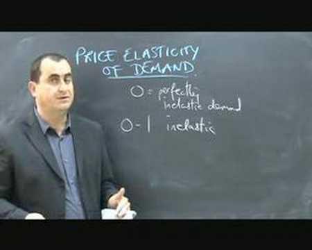 Price Elasticity of Demand - part 1