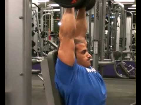 Shoulder Press, Seated, DB, Side : BeYourTrainer.com