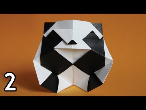Origami Panda by Román Díaz (Folding Instructions) ~Part Two~