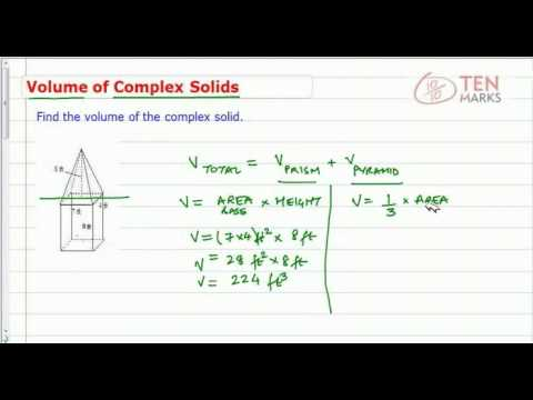 Volume of Composite Figures (Pyramids & Cones)