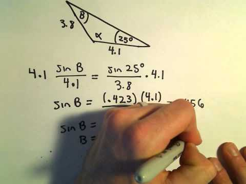 Side Angle Side for Triangles, Finding Missing Sides/Angles, Example 2