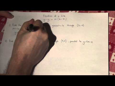 y-y1=m(x-x1) the general equation of a line - A-level Core 1 maths revision video