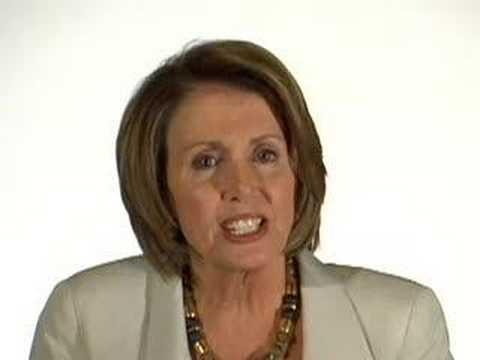 Nancy Pelosi talks about working with John McCain
