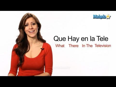 "How to Say ""What is on Television"" in Spanish"