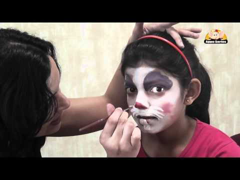 Face Painting - Easy way to paint a Rabbit