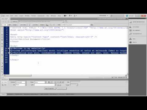 4 - Introduction to Dreamweaver