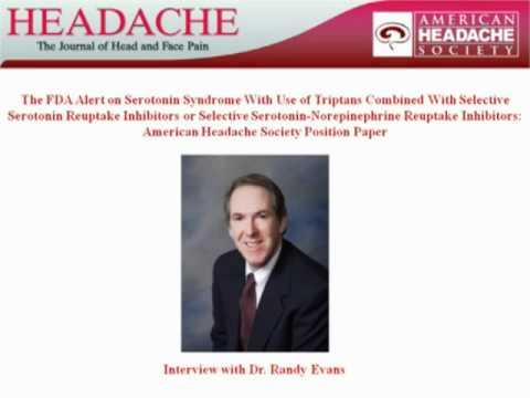 FDA Alert on Serotonin Syndrome: Interview with Dr. Evans