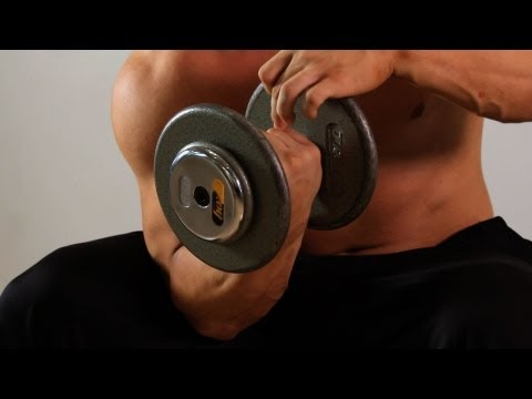 Swiss Ball One Arm Concentration Curl | Home Arm Workout for Men