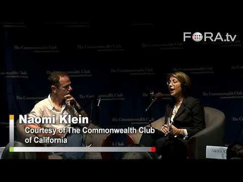 """Naomi Klein on the Bailout - An """"Economic Patriot Act"""""""
