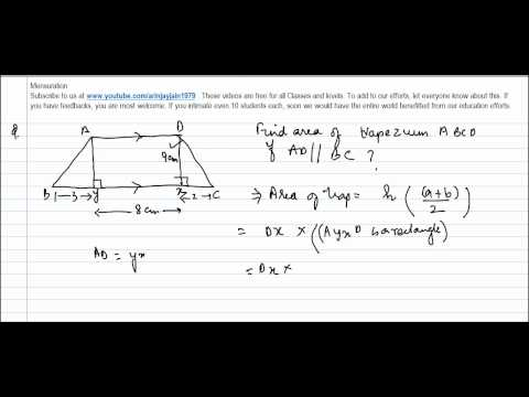 373.CBSE Class VIII, ICSE Class VIII -    Area of Trapezium Problem 1