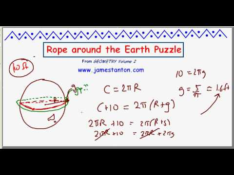 Wrapping a Rope around the Earth Puzzle (TANTON Mathematics)