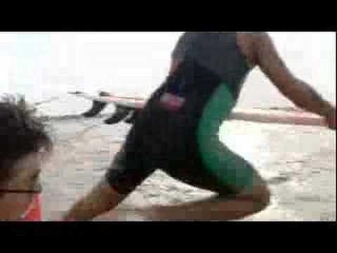 Surfing the world's longest wave - BBC