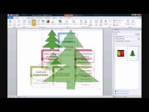 How to Make a Family Tree in Microsoft Word 2010