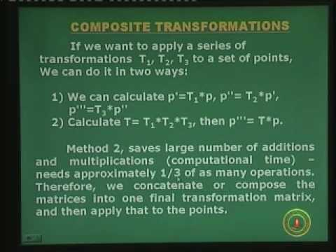 Lecture - 7 Transformations in 2D
