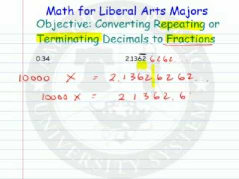 Converting Repeating or Terminating Decimals to Fractions
