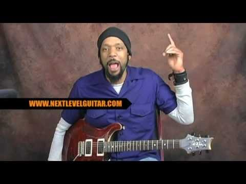 Metalcore style pedal rhythm ideas guitar lesson tabbed out on PRS metal core