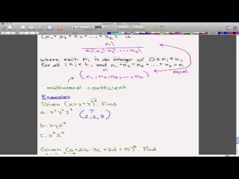 Discrete Math 1 - Tutorial 9 - Multinomial Theorem