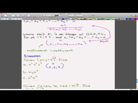 Discrete Math 1 - Tutorial 9 - Multinomial Theorem