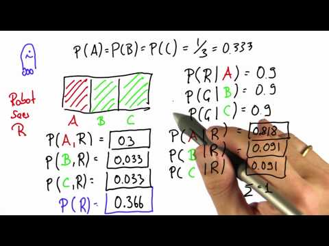 Generalizing - Intro to Statistics - Bayes Rule - Udacity