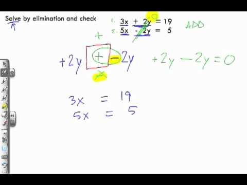 Solving Linear Systems by Elimination Sample Problem 1