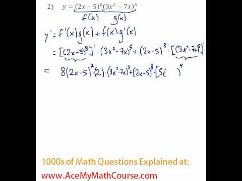 Derivatives - Multiple Rules Question #2