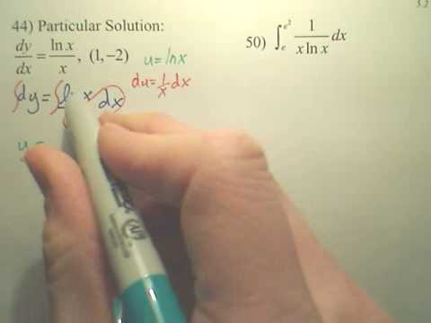 5.2 Natural Logarithmic Integration Practice B1 - Calculus